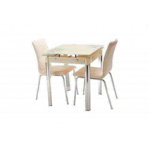 Обеденный стол Т-255 кремовый