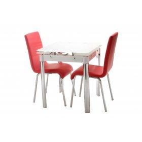 Обеденный стол Т-255 снежно-белый