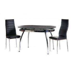 Комплект стол T-270 черный + 2 стула N-66 черный
