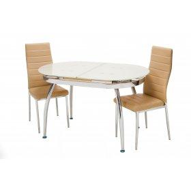 Обеденный стол Т-270 кремовый
