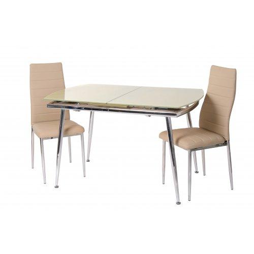 Обеденный стол Т-272 бежевый без металлических пятаков