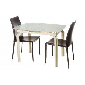Комплект стол T-273 кремовый + 2 стула NC-500 коричневый