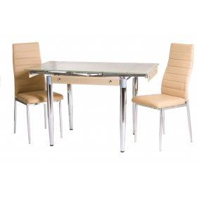 Комплект стол T-275 бежевый + 2 стула N-66 бежевый