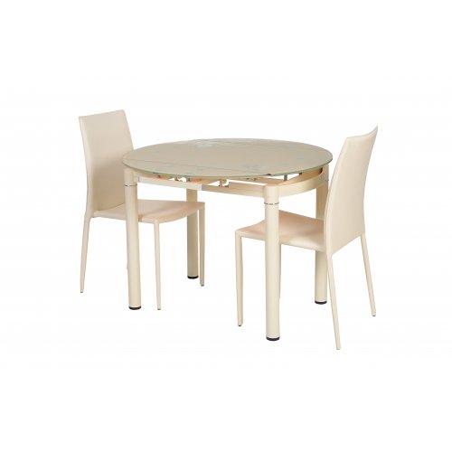 Обеденный стол Т-282 кремовый