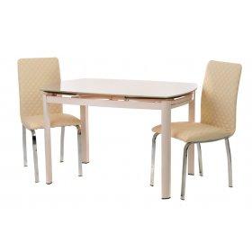 Комплект стол T-600 кремовый + 2 стула N-53 бежевый