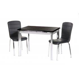 Комплект стол TN-40 черный + 2 стула N-73 черный