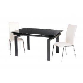 Комплект стол TN-44 черный + 2 стула N-73 белый
