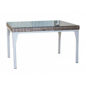 Стол обеденный со стеклом Brafta 100х100х74