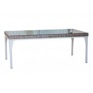 Стол обеденный со стеклом Brafta 100х220х74