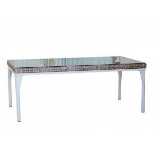 Стол обеденный со стеклом Brafta 100х280х74