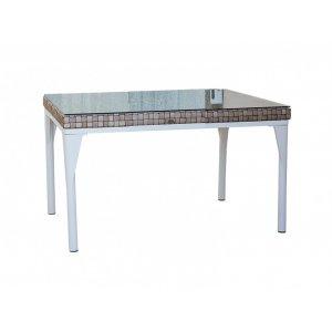 Стол обеденный со стеклом Brafta 160х160х74