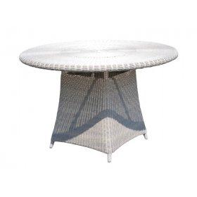 Стол обеденный круглый со стеклом Calderan