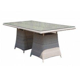 Стол обеденный со стеклом 100х200х75 см Calderan