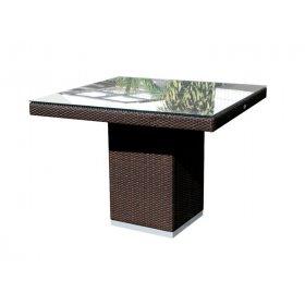 Стол обеденный со стеклом 100х100х74 Cuatro