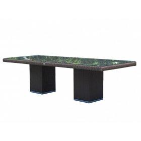 Стол обеденный со стеклом 100х220х74 Cuatro