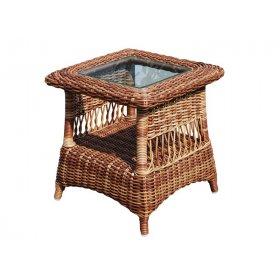 Приставной столик со стеклом Ebony