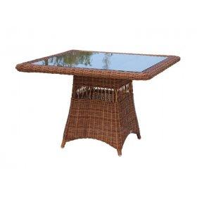 Стол обеденный со стеклом 100х100х75 Ebony