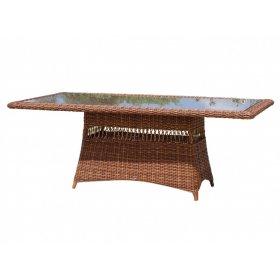 Стол обеденный со стеклом 100х200х75 Ebony
