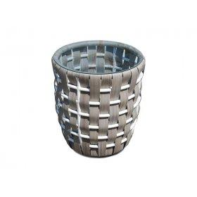 Приставной столик со стеклом Strips