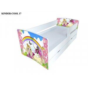 Кровать детская Kinder Cool 80x170 с ящиком и бортиком
