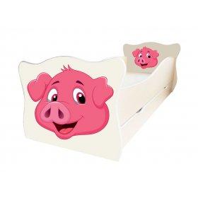 Детская кровать Animal 11 Свин 70х140