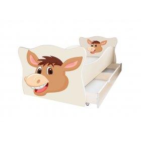 Детская кровать Animal 15 Осел 70х140