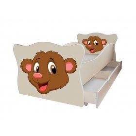 Детская кровать Animal 3 Мишка 70х140