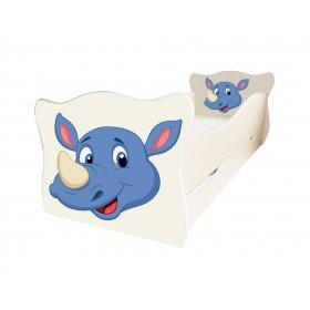 Детская кровать Animal 6 Носорог 70х140