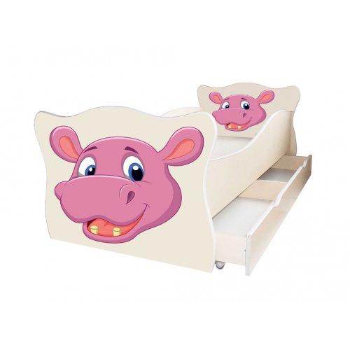Детская кровать Animal 8 Бегемотик 80х170 с ящиком