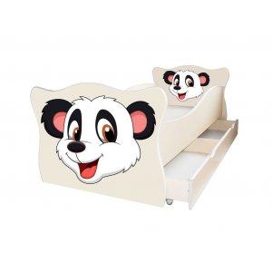 Детская кровать Animal 9 Панда 70х140 с ящиком