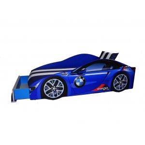 Кровать Elit BMW 80х170 синяя с подъемным механизмом