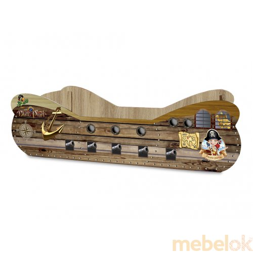 Кровать детская Кораблик 83,6х180 с ящиком