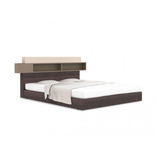 Кровать с изголовьем полками 140х200 Hi Fi
