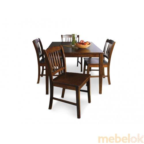 Зеркальное отображение - Комплект Гринвич (стол + 4 стула)