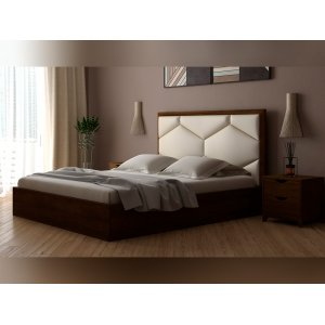 Кровать Глория с мягким изголовьем 180х200. Купить деревянную кровать Глория 180х200 в интернет магазине МебельОк