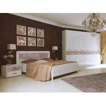 Спальный гарнитур Флора белый глянец