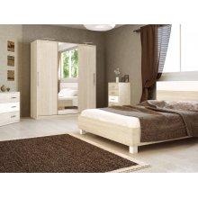 Спальный гарнитур Соната в цвете глянец белый/сан марино