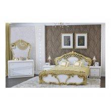 Спальный гарнитур Ева белый глянец/золото