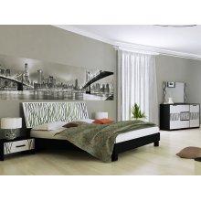 Спальный гарнитур Терра белый глянец/черный мат