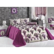 Покрывала Микрофибра Ария Текстиль,  Цвет фиолетовый