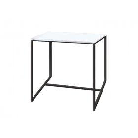 Журнальный стол Куб 450 жемчужный/bl