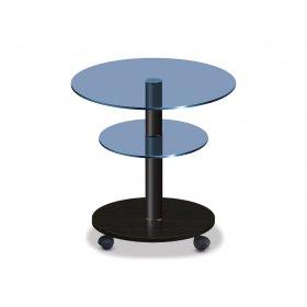 Стол журнальный LIGHT K6 blu/bl50 дуб венге