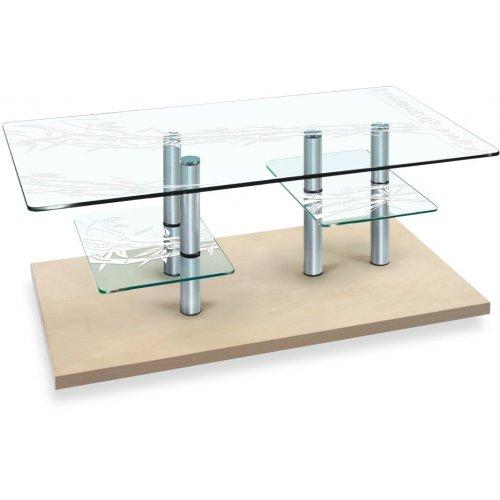 Стеклянный стол Plato TM art