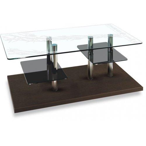 Стеклянный журнальный столик Plato TХ art