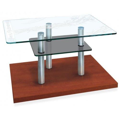 Стеклянный журнальный стол Plato mini TM art