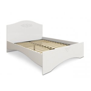 Кровать двуспальная АС-11 Ассоль 160х200 белая