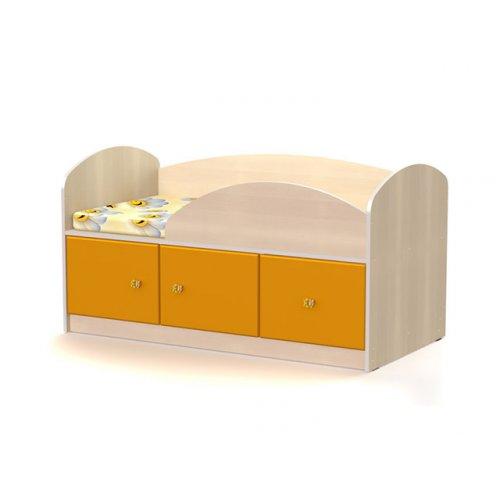 Кровать МДМ-1 70х140 Маугли оранж