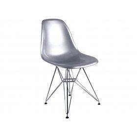 Стул Eames DSR Chair серебряный
