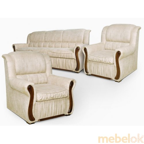 Комплект диван Фараон и 2 раскладных кресла