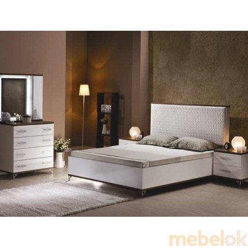 Зеркальное отображение - Белый спальный гарнитур Мода-2
